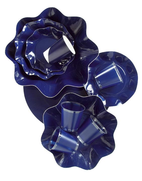 Werbeartikel: Geschirr Uni Farben,=Geschirr Dunkles Blau, - US