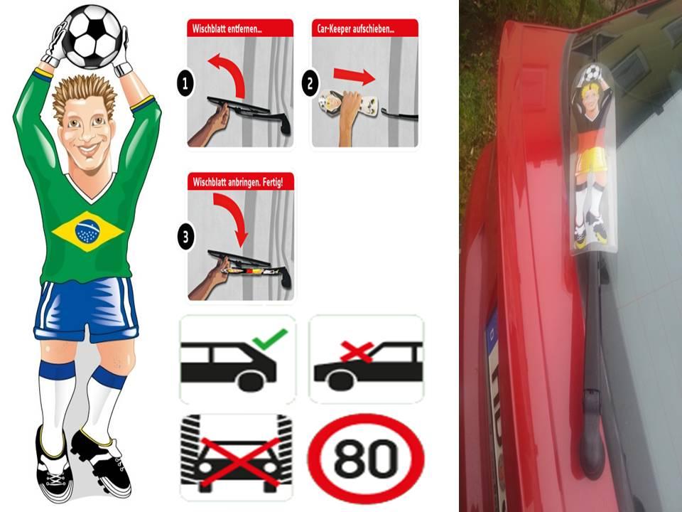 Werbeartikel: Heckscheibenwischer=Brasilien Torwart Heckscheibenwischer,