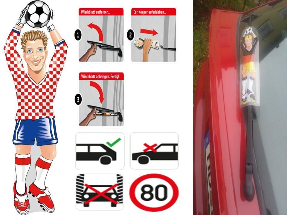 Werbeartikel: Heckscheibenwischer=Kroatien Torwart Heckscheibenwischer