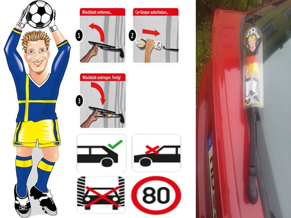 Werbeartikel: Heckscheibenwischer=Schweden Torwart Heckscheibenwischer,