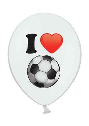 Werbeartikel: Luftballons Rot Herz Fussball