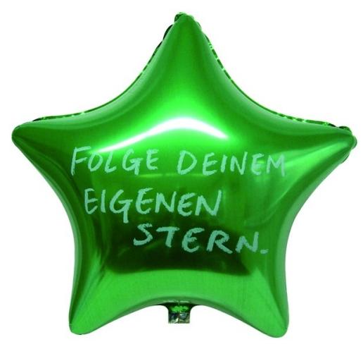 Werbeartikel: Folienballons Stern,
