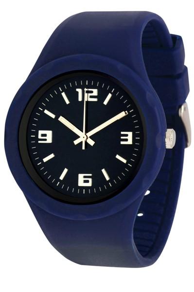 Werbeartikel: silikon armband-uhren  blau