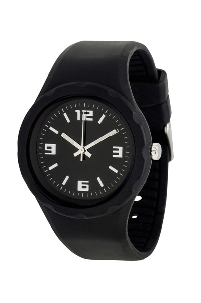 Werbeartikel: Silikon Armbanduhren pvc=silikon uhren schwarz,