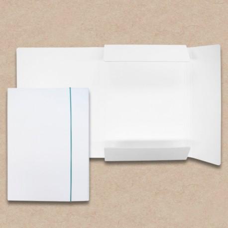 Werbeartikel: Sammelmappe aus Karton, weiß, Rückenbreite 1,5 cm