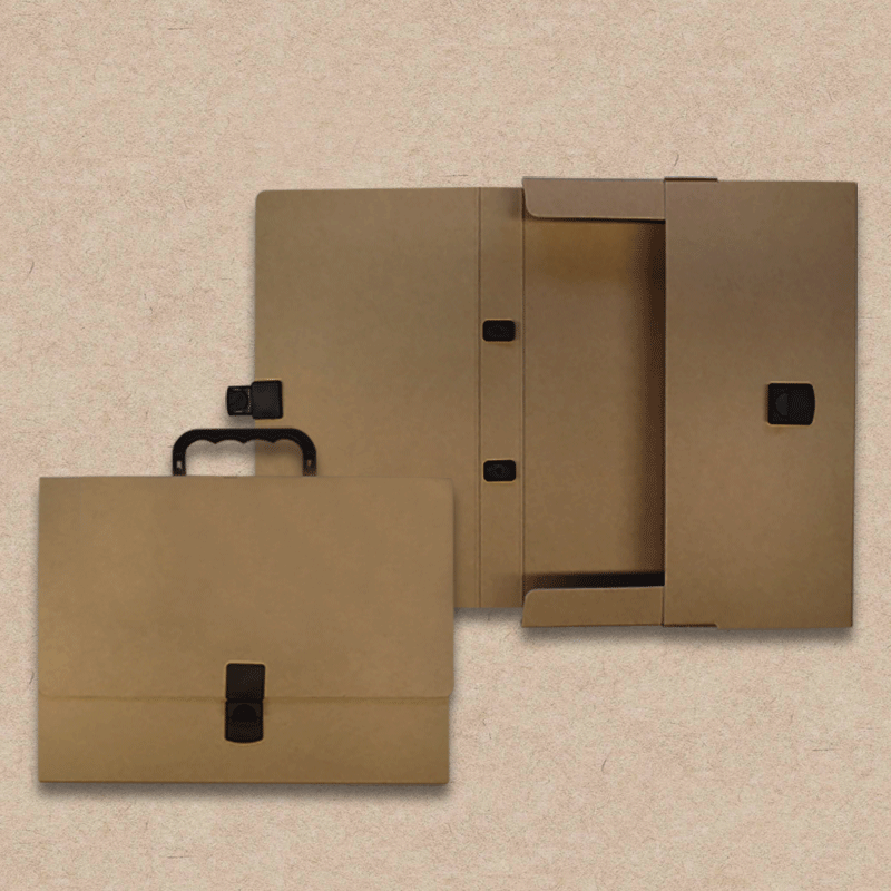 Werbeartikel: Koffer=Prospektkoffer aus Natur-Karton