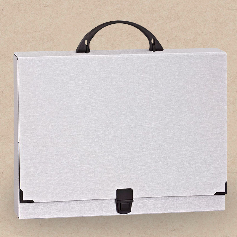 Werbeartikel: Koffer=Sammelbox in Metall-Optik