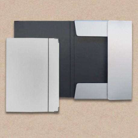 Werbeartikel: Sammelmappen=Sammelmappe aus Karton in Metall-Optik,