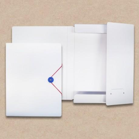 Werbeartikel: Sammelmappen=Sammelmappe aus Karton, weiß, Rückenbreite 3 cm