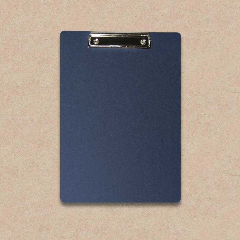 """Werbeartikel: Clipboard=Clipboard aus """"Les Naturals"""" Pappe, dunkelblau"""