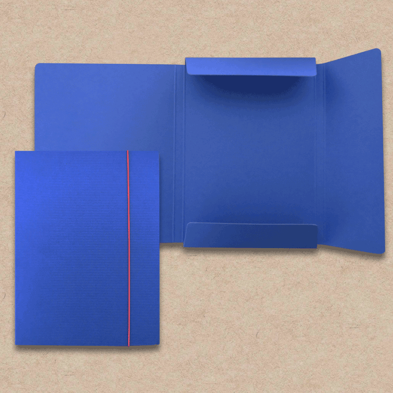 Werbeartikel: Sammelmappe in Ripp-Optik, blau