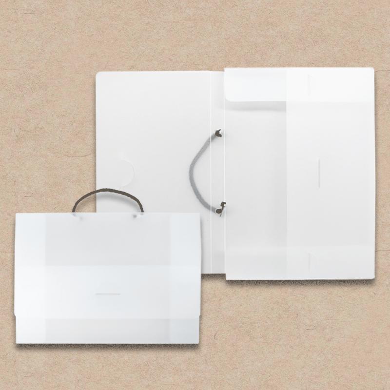 Werbeartikel: Koffer=Mappe mit Tragegriff aus Polypropylen