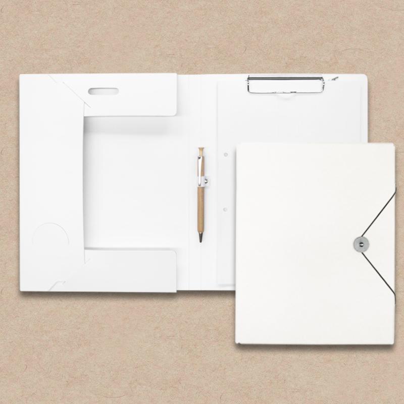 Werbeartikel: Schreibmappen/Tagungsmappen=Tagungsmappe aus Kareton, weiß