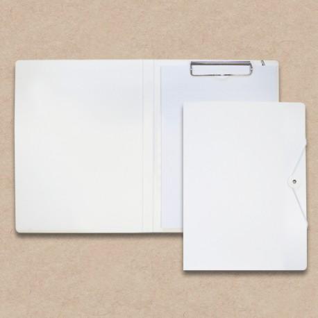Werbeartikel: Schreib-mappen,=Schreibmappe aus Karton weiß,