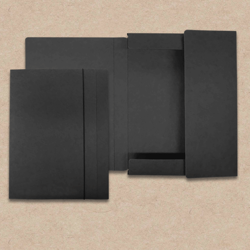 "Werbeartikel: ""Les Naturals"" Design=Sammelmappe ""Les Naturals"" Pappe, schwarz"