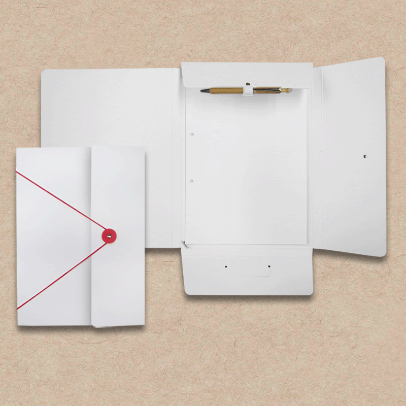 "Werbeartikel: ""Les Naturals"" Design=Collegemappe aus ""Les Naturals"" Pappe, weiß"