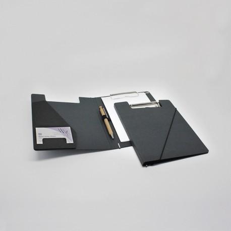 Werbeartikel: Klemmmappen=Klemmmappe DIN A5 aus Anthrazit-Karton