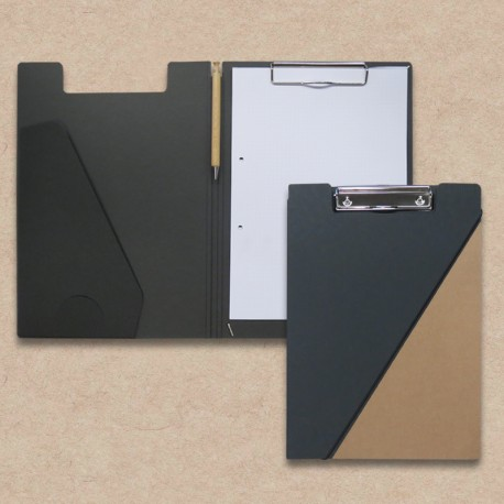 Werbeartikel: Klemmmappen=Klemmmappe in Cord-Design und Natur-Karton