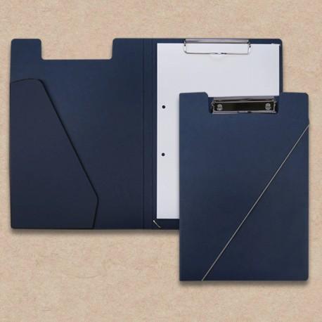 Werbeartikel: Klemmmappen=Klemmmappen  dunkelblau mit Steckfach Blau