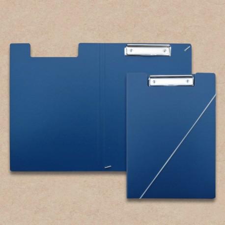 Werbeartikel: Klemmmappen=Klemmmappe aus Karton Blau,
