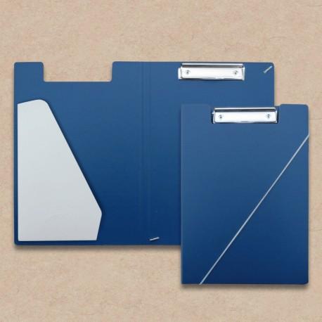 Werbeartikel: Klemmmappen=Klemm-mappen aus Karton blau Steckfach Weiss