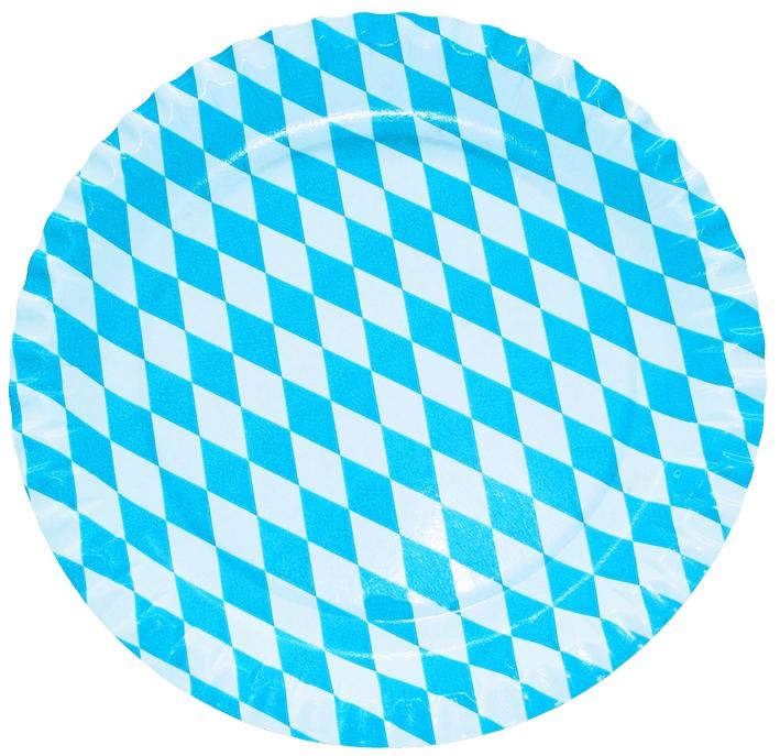 Werbeartikel: Werbe Pappteller,=Pappteller Bayern,