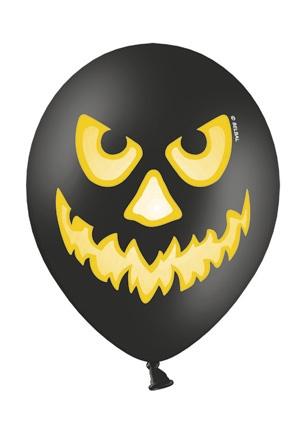 Werbeartikel: Halloween Artikel,=Luftballons Halloween Kürbis