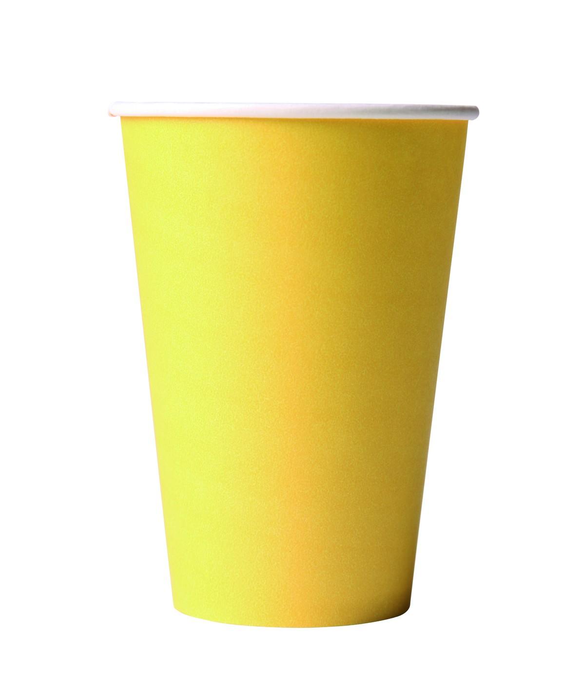 Werbeartikel: Kartonbecher gelb