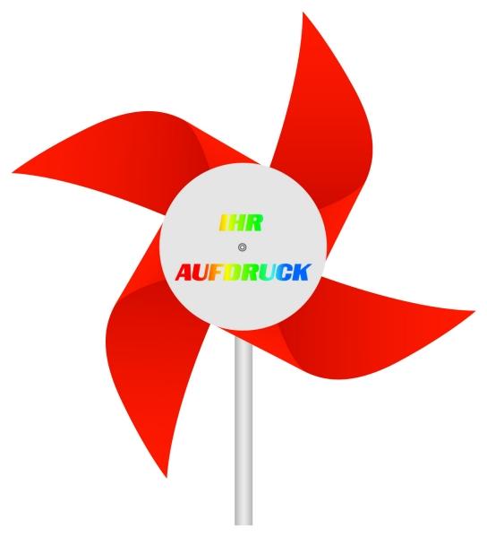 Werbeartikel: Windmühlen, Fahrrad-windmühlen,=Windmühlen aus Kunststoff rot