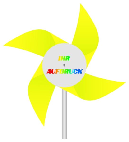 Werbeartikel: Windmühlen, Fahrrad-windmühlen,=Windmühlen aus Kunststoff gelb,