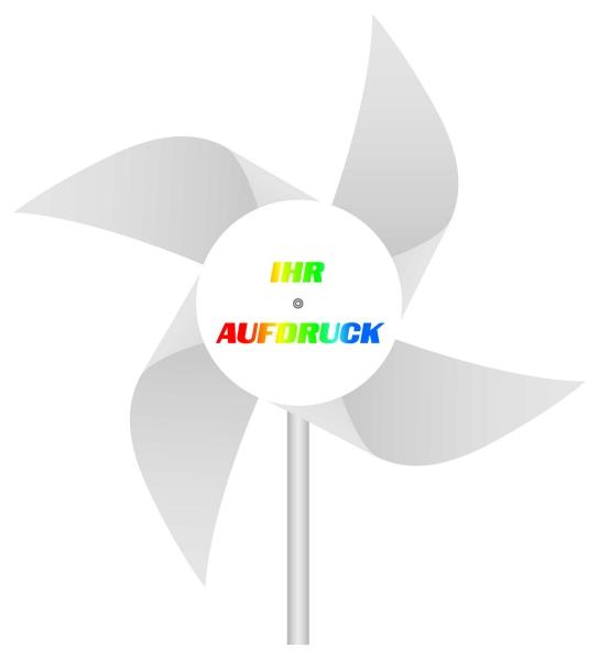 Werbeartikel: Windmühlen, Fahrrad-windmühlen,=Windmühlen 4-flügelig weiß,