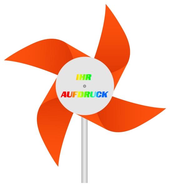 Werbeartikel: Windmühlen, Fahrrad-windmühlen,=Windmühlen 4-flügelig orange,