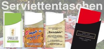 """Werbeartikel: Digitaldruck,=Serviettentaschen """"Servetta"""" Digi"""