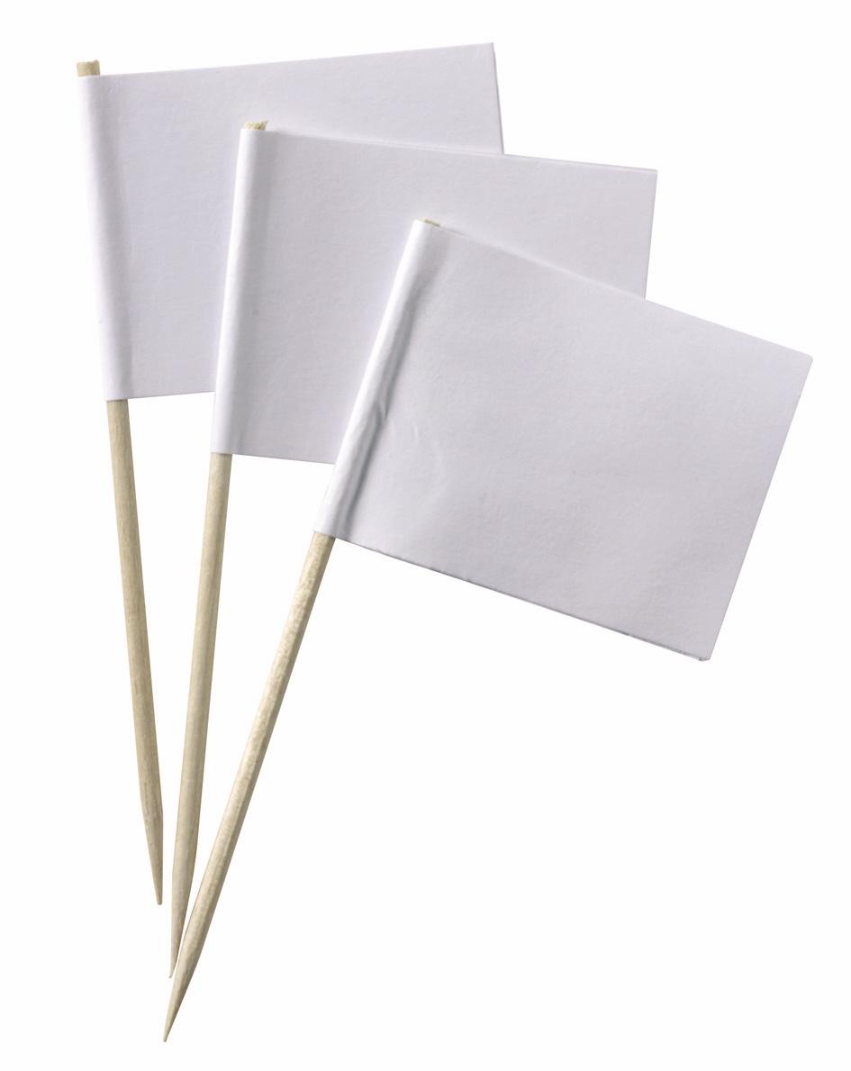 Werbeartikel: Weisse Artikel ab Lager=Weiße Minifahnen,