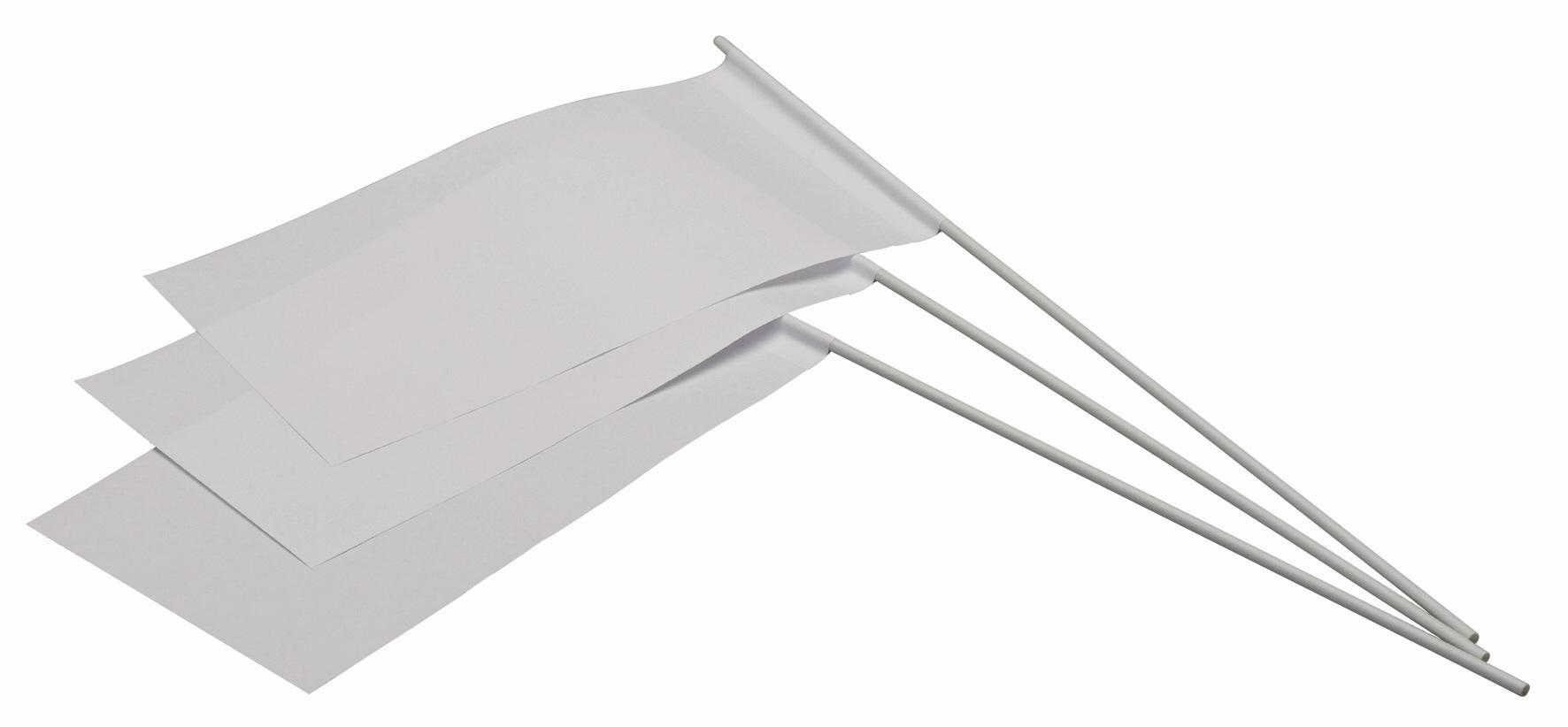 Werbeartikel: Weisse Artikel ab Lager=Weiße Papierfahnen,