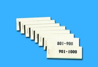 Werbeartikel: Losen, Partys Losen, Lose druck,=Doppelnummern, Nummernblocks,