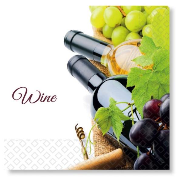 Werbeartikel: Servietten Wine, Papier-servietten wine,