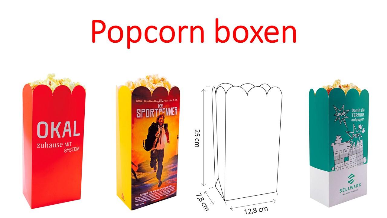 Werbeartikel: Partyartikel, Events-artikel,=Popcorn boxen
