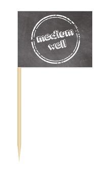 Werbeartikel: Minifahnen zur Speisenkennzeichnung=Minifähnchen medium well