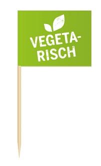 Werbeartikel: Minifahnen zur Speisenkennzeichnung=Minifähnchen Vegetarisch