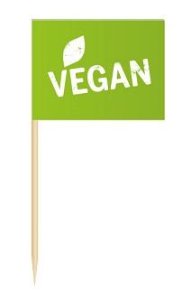 Werbeartikel: Minifahnen zur Speisenkennzeichnung=Minifähnchen Vegan