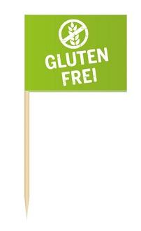 Werbeartikel: Minifahnen zur Speisenkennzeichnung=Minifähnchen Glutenfrei