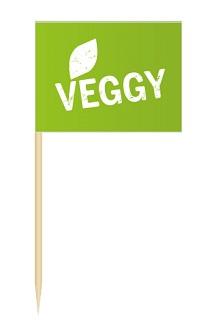 Werbeartikel: Minifahnen zur Speisenkennzeichnung=Minifähnchen Veggy