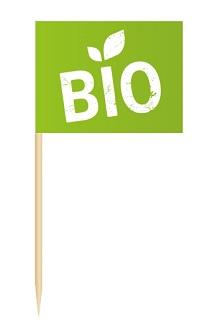 Werbeartikel: Minifahnen zur Speisenkennzeichnung=Minifähnchen Bio