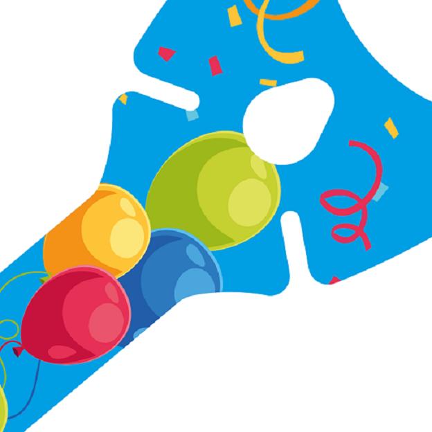 Werbeartikel: Ballons-halter=Ballons-halter blau