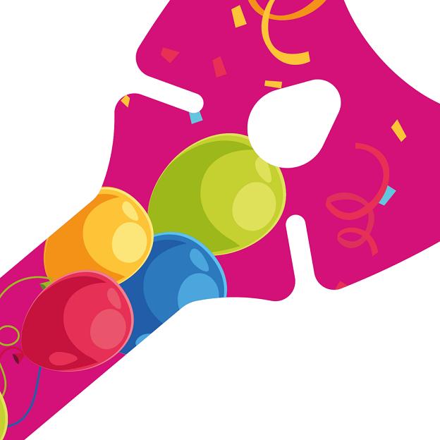 Werbeartikel: Ballons-halter=Ballon-halter Pink