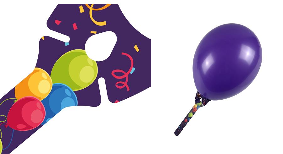 Werbeartikel: Ballons-halter=Ballon-halter Purple