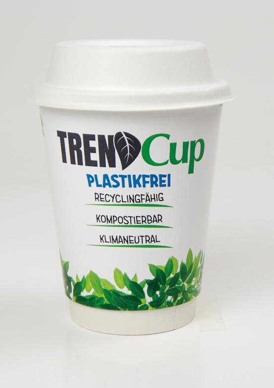 Werbeartikel: Trend Cup Becher=Trend Cup Papp Becher mit Bagasse Deckel