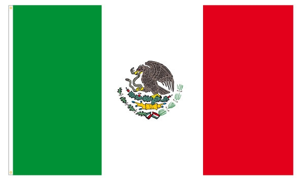 Werbeartikel: Mexiko Party Artikel,=Polyesterfahnen Mexiko,