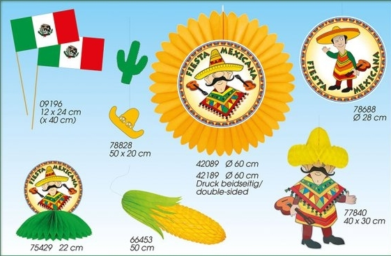 Werbeartikel: Mexiko Party Artikel,=Themendekoration Mexiko,